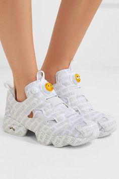 Vetements - + Reebok Logo Instapump Fury logo-print leather and mesh  sneakers 1ffa74c47