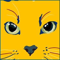 blue and yellow cat by Sebastiano Ranchetti