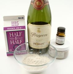Champagne and cream face mask - can't get much more decadent than that! #soapmaking