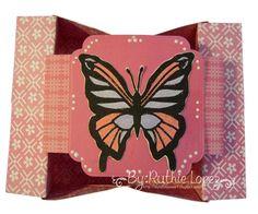 Butterfly - shadow box - box-card