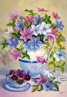 overflowing flowers