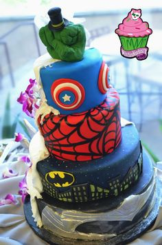 Superheros Cake - Are you a hardcore DC or Marvel fan?