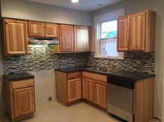 Kitchen Room Design, Kitchen Cabinet Design, Kitchen Layout, Kitchen Decor, Kitchen Units, Kitchen Ideas, Hickory Kitchen Cabinets, Soapstone Kitchen, Kitchen Counters