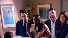 Eau 1 by Maeve Harris was seen on How To Get Away With Murder. The painting is on the left #ArtOnTV #HTGAWM