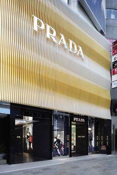 Prada Flagship Store, Tokyo, Japan - Roberto Baciocchi and Carlos Cruz-Diez Design Patio, Design Exterior, Facade Design, Building Skin, Building Facade, Retail Architecture, Architecture Design, Shop Front Design, Store Design