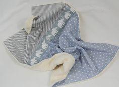 Teddy-Babydecke Sternchen Streifen Elefanten von Dinkelundmehr auf DaWanda.com