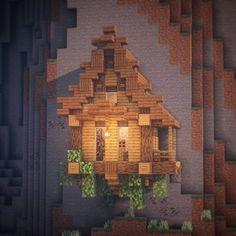 A small hillside house. A small hillside house. Minecraft Poster, Craft Minecraft, Memes Minecraft, Villa Minecraft, Minecraft World, Minecraft Building Guide, Cute Minecraft Houses, Minecraft Structures, Minecraft Houses Survival