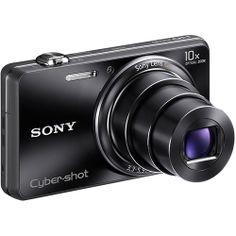 Câmera Digital 3D Sony Cyber-shot DSC-WX100 18.2 MP com 10x Zoom Óptico, Filma Full HD, Foto Panorâmica, Preta + Cartão 8GB, por apenas  R$ 599,00. Oferta Americanas para todo o Brasil.