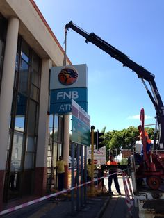 FNB Mossel Bay Sign Installation, Cn Tower, Signs, Building, Travel, Viajes, Shop Signs, Buildings, Destinations