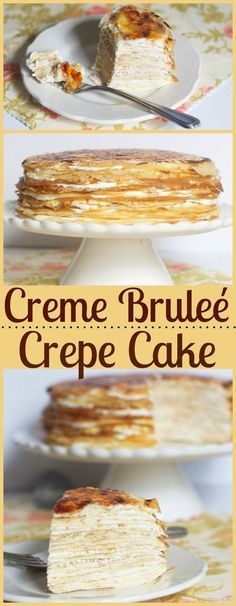 Creme Brulee Crepe Cake - the best of both worlds. Creme Brulee Crepe Cake – the best of both worlds. Creme Brulee Crepe Cake – the best of both worlds. Just Desserts, Delicious Desserts, Yummy Food, Delicious Cookies, Food Cakes, Cupcake Cakes, Baking Cakes, Dessert Crepes, Crepe Cake