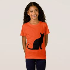 Little Girl's Cat / Halloween T-Shirt - Halloween happyhalloween festival party holiday