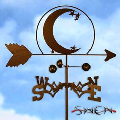 Magick Wicca Witch Witchcraft:  #Crescent #Moon #weathervane.