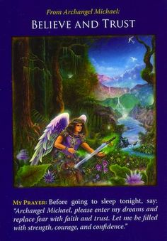 To resolve this situation, you must believe that everything is healed and whole right now... (keep reading: http://www.freeangelcardreadingsonline.com/2013/archangel-michael-believe-and-trust/)