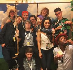 """""""shaynetopp: Here's a photo of a bunch of people I love. wins for best face. Youtubers Life, Best Youtubers, Disney Princess Tattoo, Punk Princess, Shayne Topp, Smosh Squad, Squad Game, Smosh Games, Funny Road Signs"""