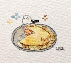 Kawaii Illustration, Flower Background Wallpaper, Flower Backgrounds, Pretty Art, Cute Art, Penguin Art, Cute Penguins, Kawaii Art, Illustrations And Posters