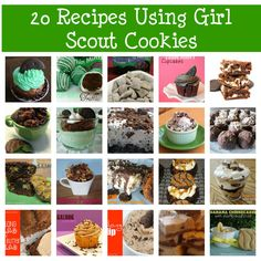 Ways to use up those Girl Scout Cookies.........without feeling like you have to eat them all.