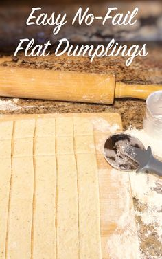 Check out my secret ingredient that makes these dumplings tender and perfect every time! Flat Dumplings Recipe, Homemade Dumplings, Homemade Soup, Chicken And Dumplin Recipe, Chicken And Dumplings, Baking Recipes, Soup Recipes, Chicken Recipes, Steak Recipes