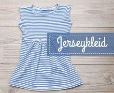 Eine kostenlose Anleitung mit Bildern für ein Jerseykleid nach Schemaschnitt für Kinder und Erwachsene