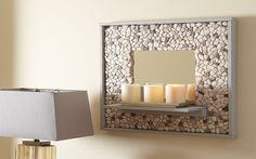 How to Make a Mosaic Tile Mirror at The Home Depot ORDER MINI GREEN PEBBLE TILE OR MOSAIC IVORY TILE FROM PEBBLETILEMOSAICS.COM