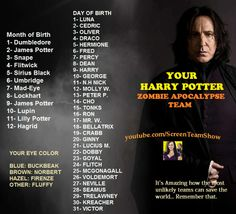 Lupin, Fluffy, and Goyal are my Harry Potter Zombie Apocalypse Team