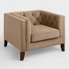 Mushroom Brown Velvet Kendall Chair