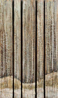 """Stillness""   Encaustic work by Mandy Gregory."