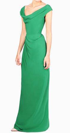 4381ab635 Alquiler Vestido largo GEMA verde con corset