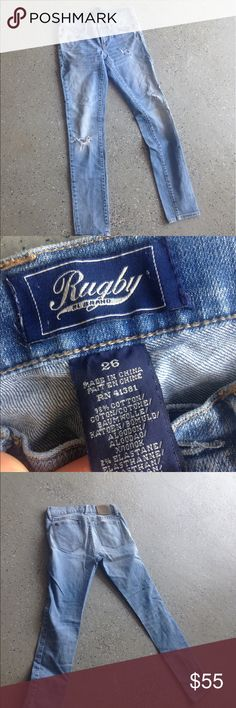 "Rugby Brand ""super skinny"" jeans 👖 Great condition! Very cute and great deal! Rugby Jeans Skinny"