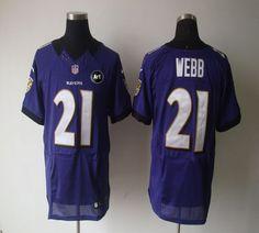 Nike Ravens #21 Lardarius Webb Purple Team Color With Art Patch Men's Embroidered NFL Elite Jersey @Emillia Kelly