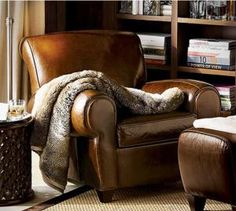 Reading room  -  In a big comfy Leather Chair. I'll take a good book and a blanket and fall asleep here any day