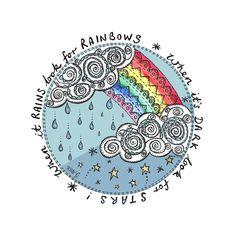 Rainbows and Stars by ArtbyKateG on Etsy