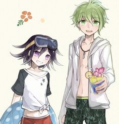 Kokichi Ouma and Rantaro Amami.