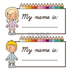 Teachers, are you looking for the perfect resource for your classroom? KidsPressMagazine has printable projects and curriculum supplements! These free, printable back to school name cards are perfect for learning your new student's names! Sunday School Kids, Back To School, School Boy, Preschool Name Tags, Printable Name Tags, Free Printable, Name Tag For School, School Frame, Student Name Tags
