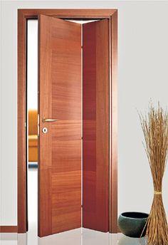 Дверь книжка – прекрасно подойдет для узких коридоров и проходов. Сложившись, дверь не займет много места, при этом послужит превосходным украшением интерьера Wooden Glass Door, Wooden Doors, Arched Doors, Windows And Doors, Small Bathroom Layout, Beautiful Front Doors, Maids Room, External Doors, Minimalist House Design