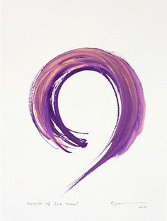 One Brush - Kazuaki Tanahashi Zen Brushmaster — Brushmind Pen And Watercolor, Watercolor Tattoos, Abstract Watercolor, Abstract Art, Circular Tattoo, Discreet Tattoos, Lavender Tattoo, Circle Tattoos, Gallery Of Modern Art