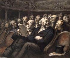 Honoré+Daumier+-+Intermission+at+the+Comédie+Française+.JPG (839×700)