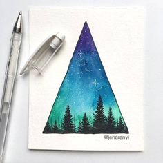 A little starry sky triangle to start out your Saturday morning! 😊 on a completely unrelated note, is anyone else just as shocked as I am that it's already almost mid-August? WHERE did this summer go? Art Inspo, Inspiration Art, Watercolor Paintings Tumblr, Watercolor Print, Galaxy Painting, Galaxy Art, Art Galaxie, Mini Toile, Art Du Croquis