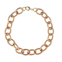 Rose Gold Oval Chain by BlackPearlCouture on Etsy