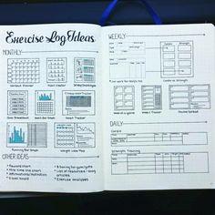 Bullet Journal Tracker, Bullet Journal For Weight Loss, Bullet Journal Workout, Bullet Journal Junkies, Fitness Journal, Bullet Journal Layout, Bullet Journal Ideas Pages, Bullet Journals, Bullet Journal Health