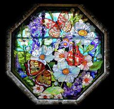 Glass Windows: Octagon Stained Glass Window