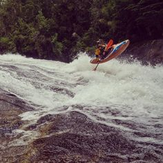 """""""Boofing 101 by @aeonznaeonz in #chile #whitewater #kayaking  by @whereisbaer """""""
