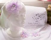 Isn't She Lovely In Lavender Lace Headband and Barefoot Sandals
