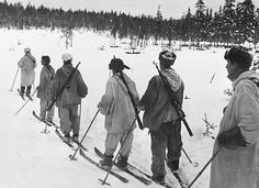 Ski troops patrolling in Finland during World War II - pin by Paolo Marzioli