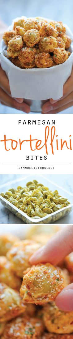 Parmesan Tortellini Bites - Crisp, crunchy, parmesan-loaded tortellini bites – so good, you won't be able to stop eating these!