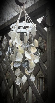 Use coupon code happy31 and get $3 off October only!....jingle shell wind chime by MidwestSheller on Etsy, $16.00