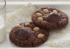 Bear Paws are made with Milk Chocolate Premium brownie mix.