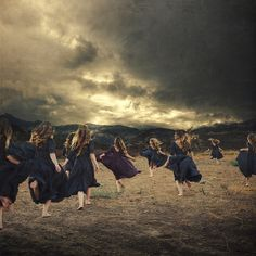the flock by brookeshaden, via Flickr
