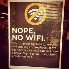 no wifi signs in coffee shops - Google Search