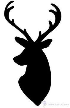 трафарет головы оленя - Поиск в Google