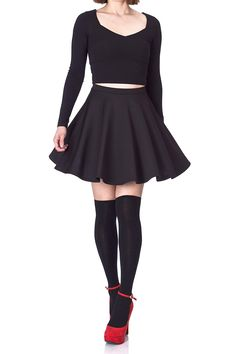 Flouncy High Waist A-line Full Flared Circle Swing Dance Party Casual Skater Short Mini Skirt -- Click image for more details. (This is an affiliate link) Womens Wool Socks, Women's Mini Skirts, V Neck Dress, Skirt Outfits, Skater Skirt, High Waist, Casual, Dance, Clothes